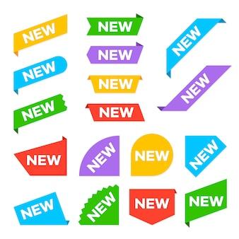 Nieuwe hoeklabels. nieuwe labellabels ingesteld