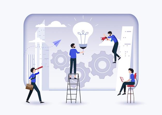 Nieuwe ideeën vinden, een mechanisme lanceren, nieuwe oplossingen zoeken