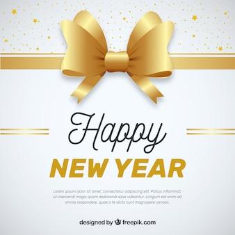 Nieuwe jaar 2018 achtergrond met gouden boog