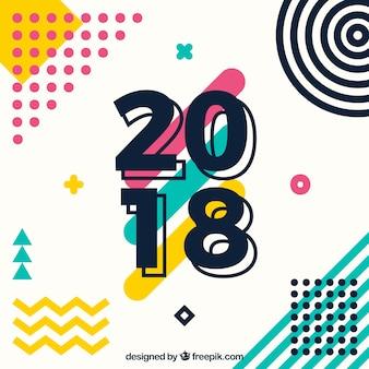 Nieuwe jaar 2018 achtergrond