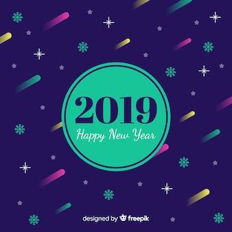 Nieuwe jaar 2019 achtergrond