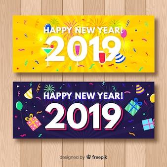 Nieuwe jaar 2019 partijbanner