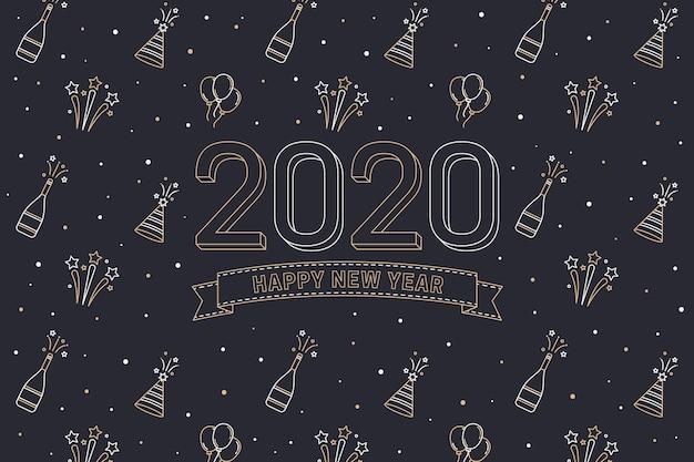 Nieuwe jaar 2020-achtergrond