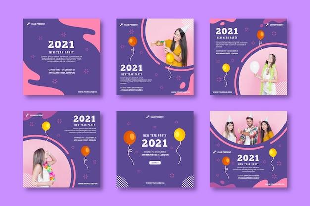 Nieuwe jaar 2021 ig postcollectie