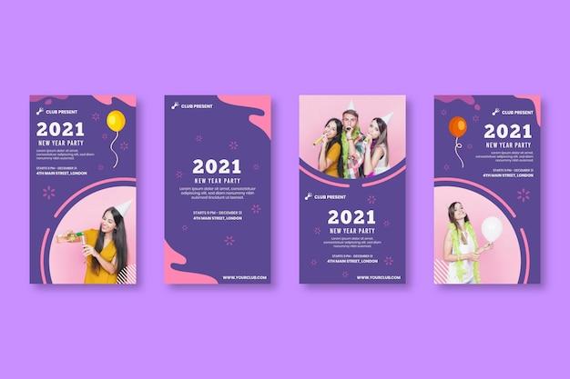 Nieuwe jaar 2021 ig-verhalencollectie
