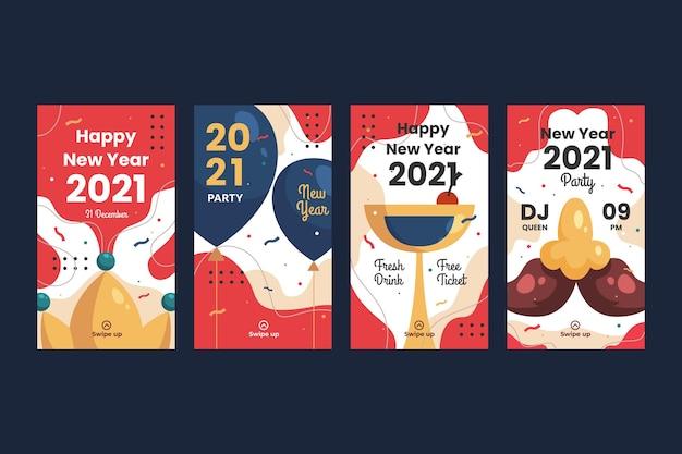 Nieuwe jaar 2021 instagram-verhaalcollectie