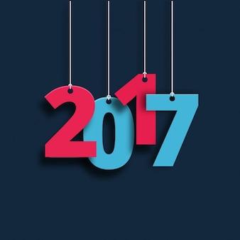Nieuwe jaar achtergrond met hangende nummers