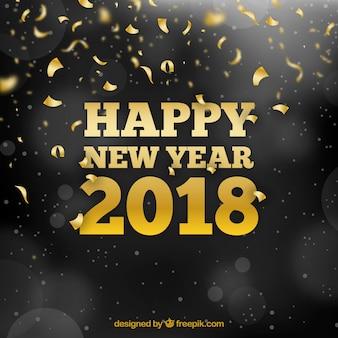 Nieuwe jaar gouden achtergrond