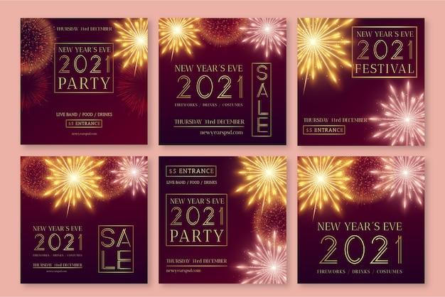Nieuwe jaar instagram postverzameling