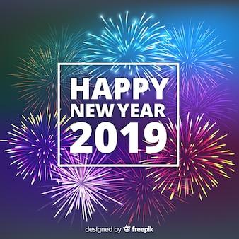 Nieuwe jaar vuurwerkachtergrond