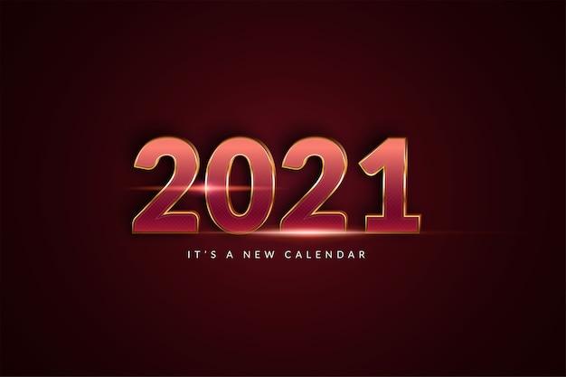 Nieuwe jaarkalender, vakantie feest illustratie achtergrond sjabloon
