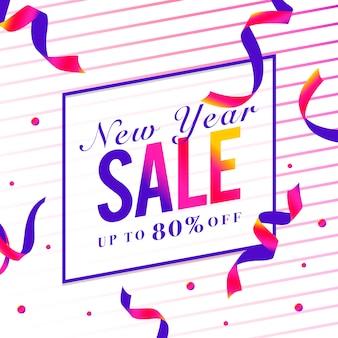 Nieuwe jaarverkoop 80% van tekenvector