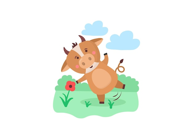 Nieuwe kinderkalender voor jaar van os dier stier koe chinees jaar karakter