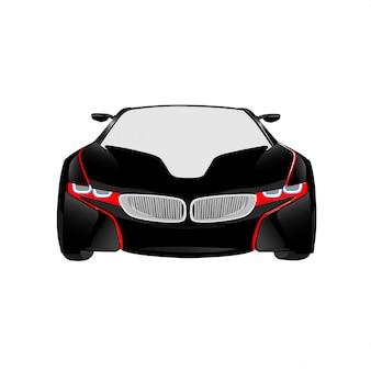 Nieuwe model auto vectorillustratie op witte achtergrond volledige bewerkbare indeling