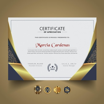 Nieuwe moderne certificaatsjabloon