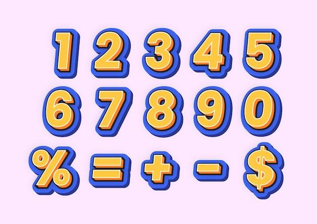 Nieuwe moderne komische vet lettertype-nummerreeks