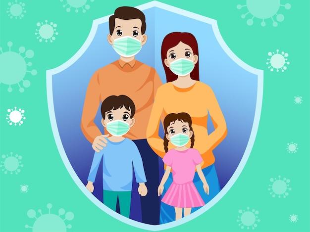 Nieuwe normale familie anti-virus vector
