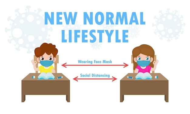 Nieuwe normale levensstijlillustratie