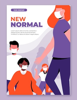 Nieuwe normale postersjabloon