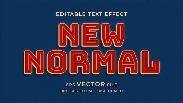Nieuwe normale retro-stijl bewerkbare tekst effect concept