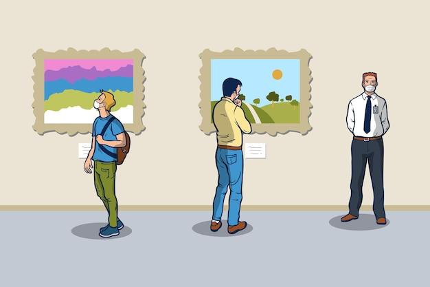 Nieuwe normale scènes in de musea