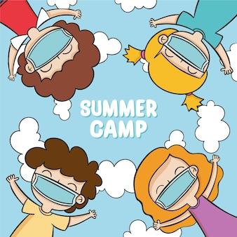 Nieuwe normale scènes in zomerkampen