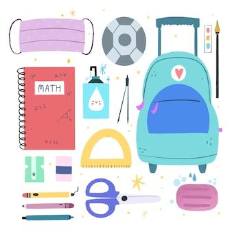 Nieuwe normale schoolbenodigdheden
