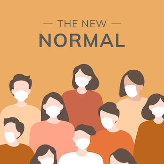 Nieuwe normale sjabloon social media post