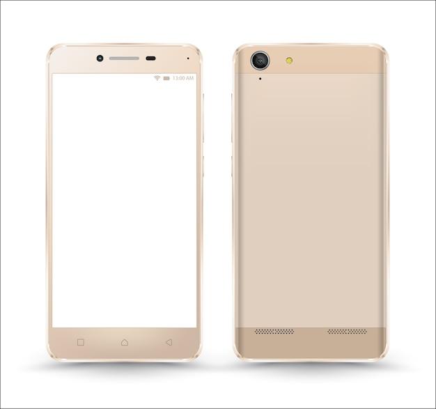 Nieuwe realistische modellen mockups voor mobiele telefoons