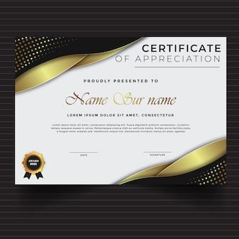 Nieuwe sjabloon voor certificaatprestaties