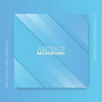 Nieuwe sjabloon voor sociale media. gradiënt geometrisch abstract ontwerp