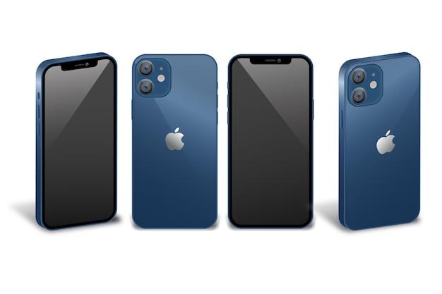 Nieuwe smartphone in verschillende perspectieven