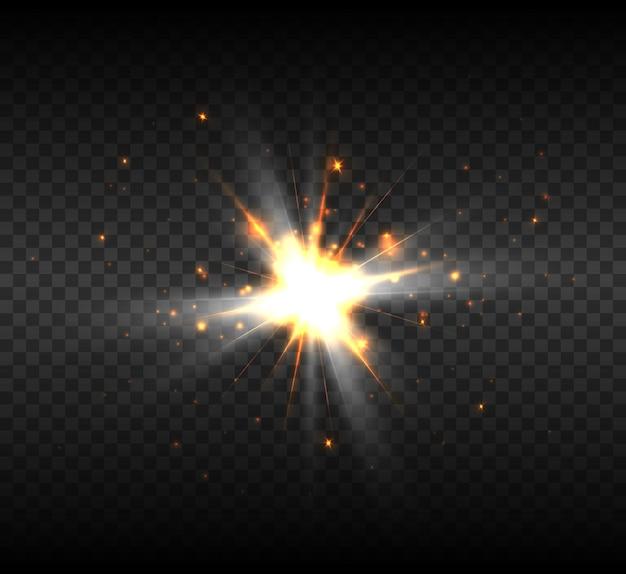 Nieuwe ster explosie, helder lichteffect ter illustratie.
