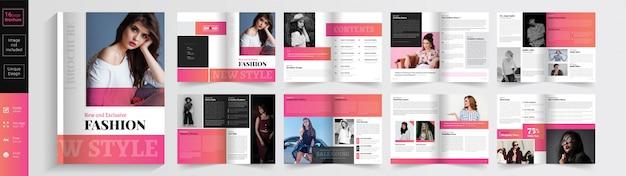 Nieuwe stijl en exclusieve mode-brochuremalplaatje. .