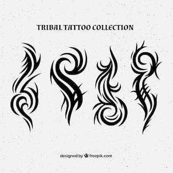 Nieuwe stijl tribale tattoo collectie Gratis Vector