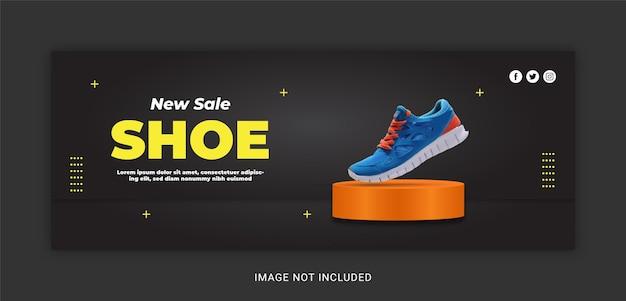 Nieuwe stijlschoen exclusieve verkoop facebook-omslagsjabloon