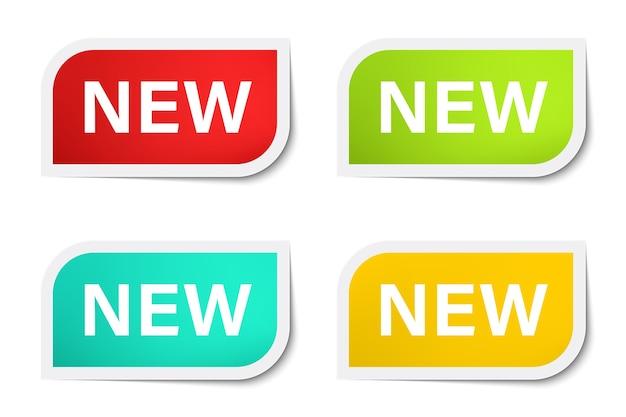 Nieuwe tagbusiness en bannervector.