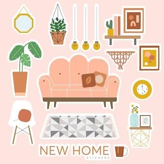 Nieuwe thuisstickers