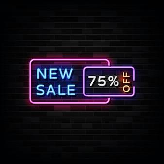 Nieuwe verkoop neonreclames neon designstijl