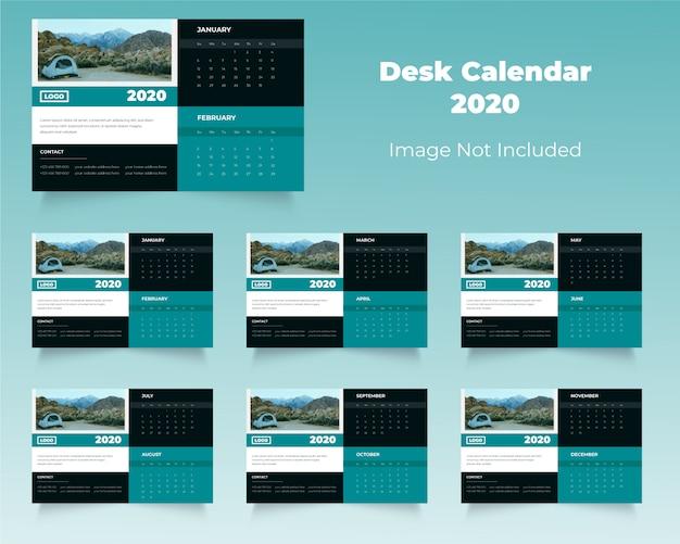 Nieuwe zakelijke 2020 bureaukalender
