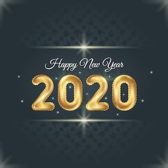 Nieuwjaar 2020 achtergrondsjabloon