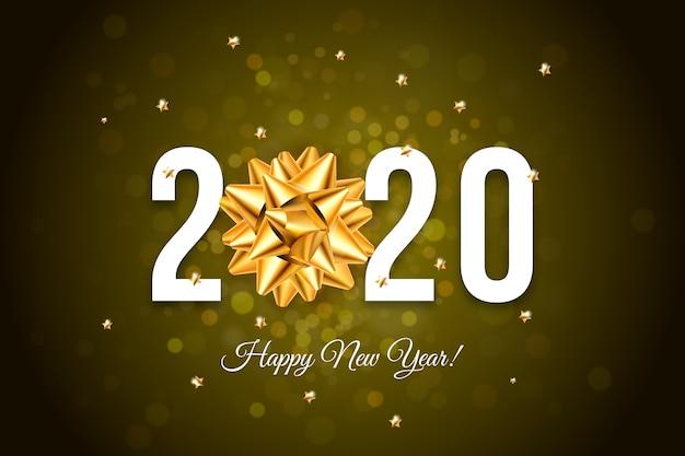 Nieuwjaar 2020 klokbehangthema
