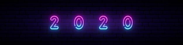 Nieuwjaar 2020 neonreclame.
