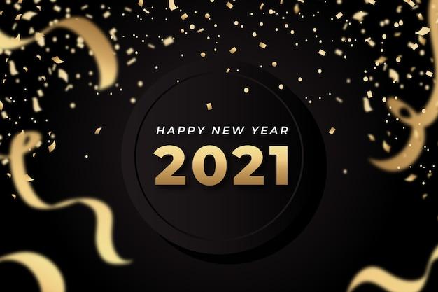 Nieuwjaar 2021 confetti achtergrond