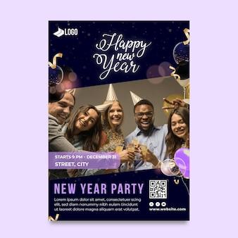 Nieuwjaar 2021 flyer verticaal Premium Vector