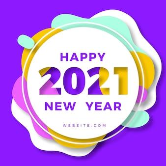 Nieuwjaar 2021 papier stijl achtergrond