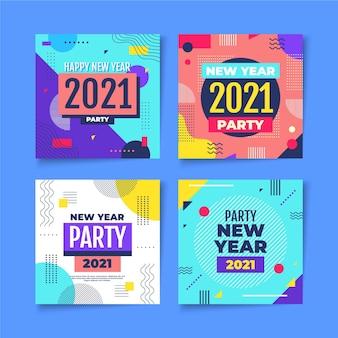 Nieuwjaar 2021 party instagram posts ingesteld
