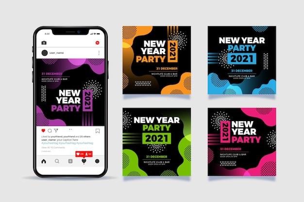 Nieuwjaar 2021 party instagram posts
