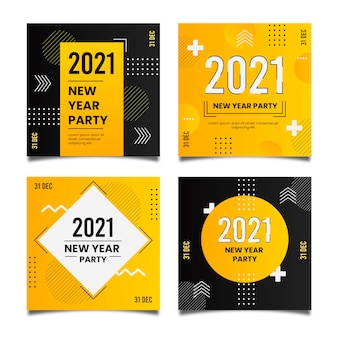 Nieuwjaar 2021 party instagram postverzameling