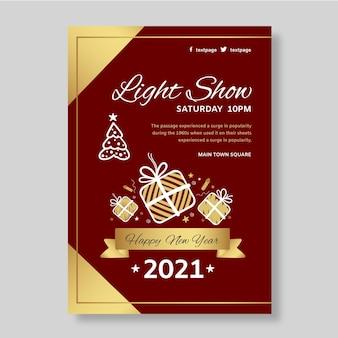 Nieuwjaar 2021 poster a4 Gratis Vector